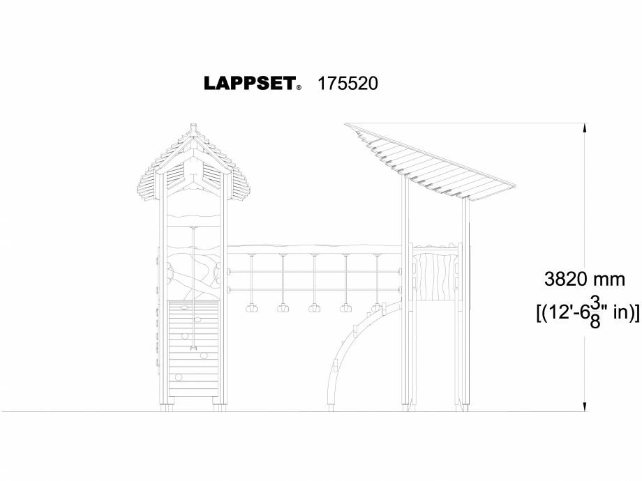 Pagina 1 - CAD-DWG Echipament de joaca pentru copii - 175520 LAPPSET Detaliu de produs FLORA