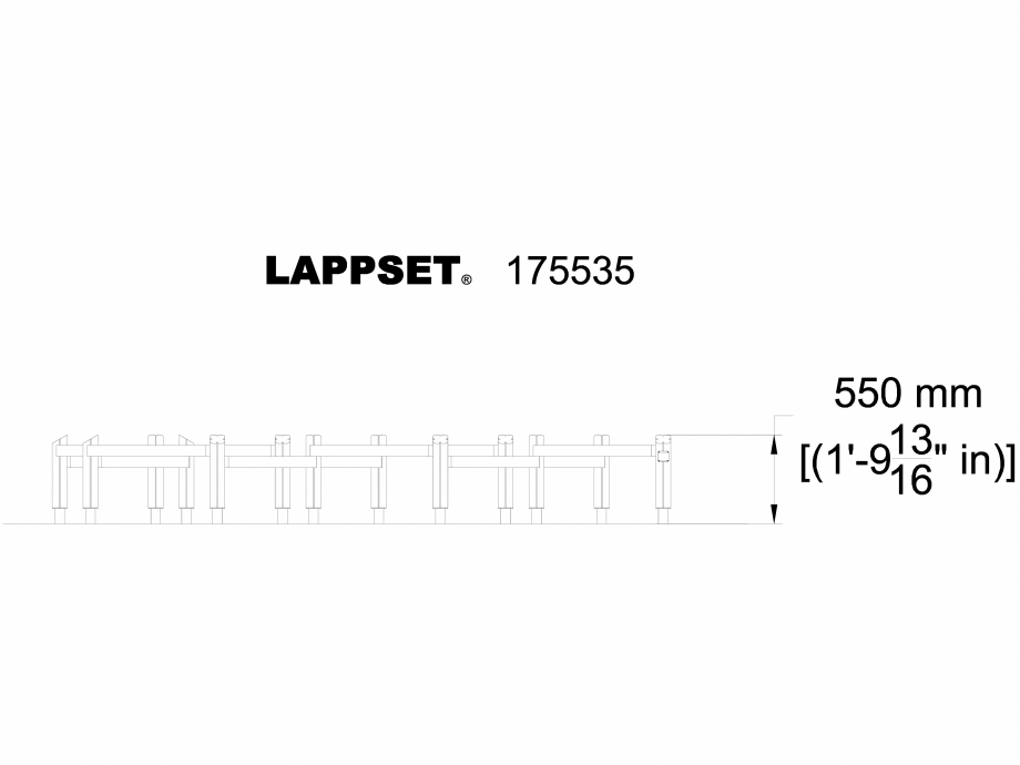 Pagina 1 - CAD-DWG Echipament de joaca pentru copii - 175535 LAPPSET Detaliu de produs FLORA