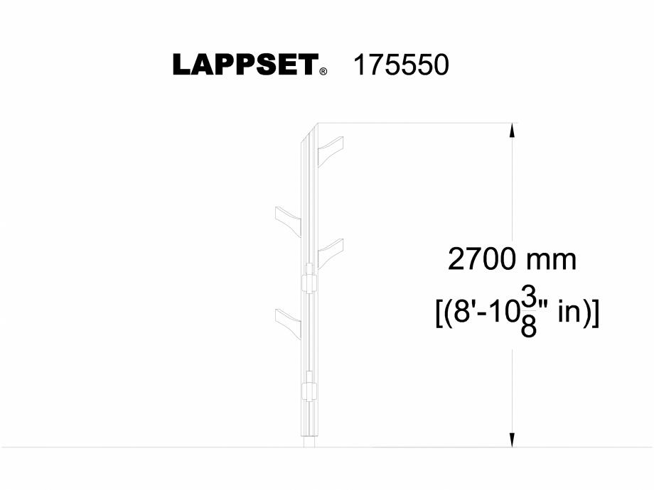 Pagina 1 - CAD-DWG Echipament de joaca pentru copii - 175550(1) LAPPSET Detaliu de produs FLORA