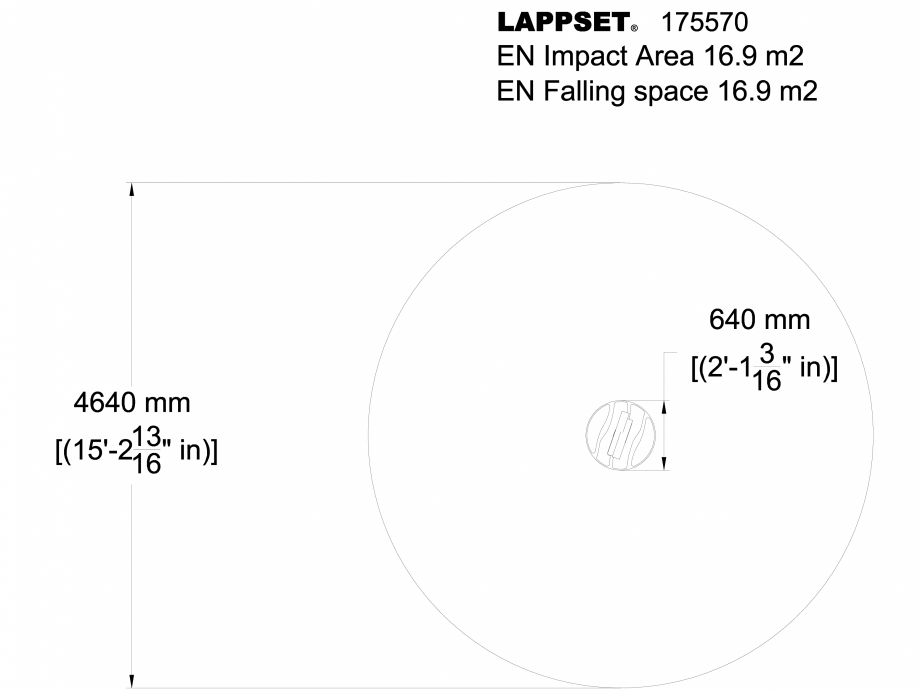 Pagina 1 - CAD-DWG Echipament de joaca pentru copii - 175570(1) LAPPSET Detaliu de produs FLORA