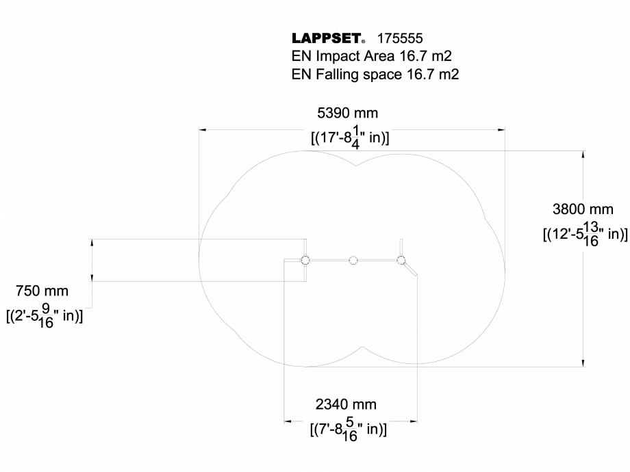 Pagina 1 - CAD-DWG Echipament de joaca pentru copii - 175555 LAPPSET Detaliu de produs FLORA