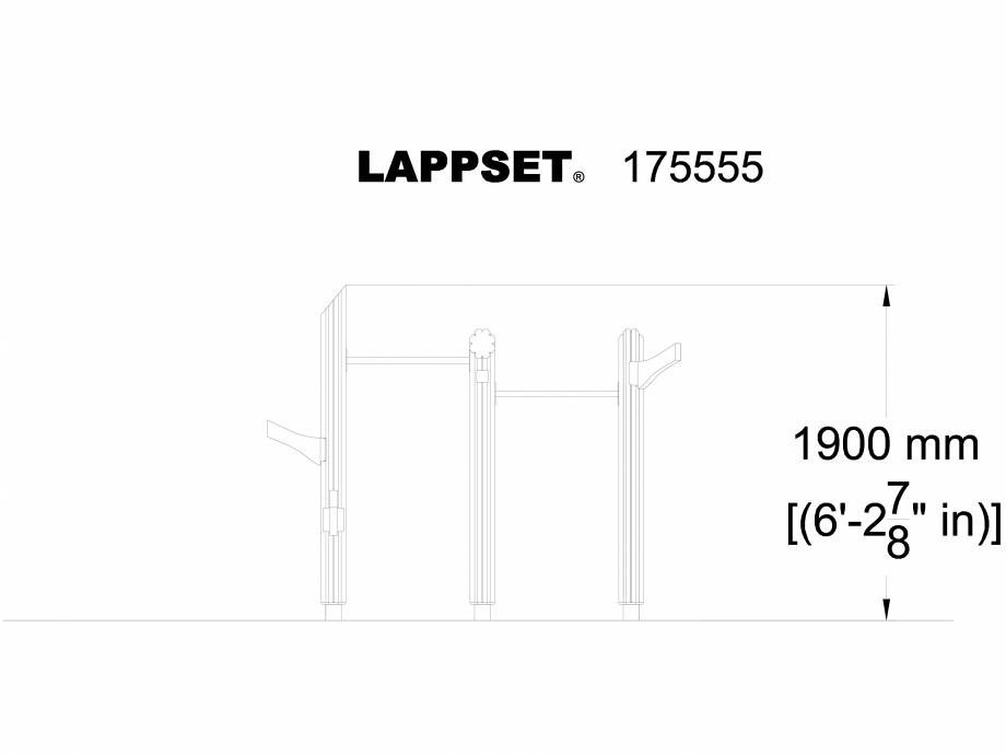Pagina 1 - CAD-DWG Echipament de joaca pentru copii - 175555(1) LAPPSET Detaliu de produs FLORA