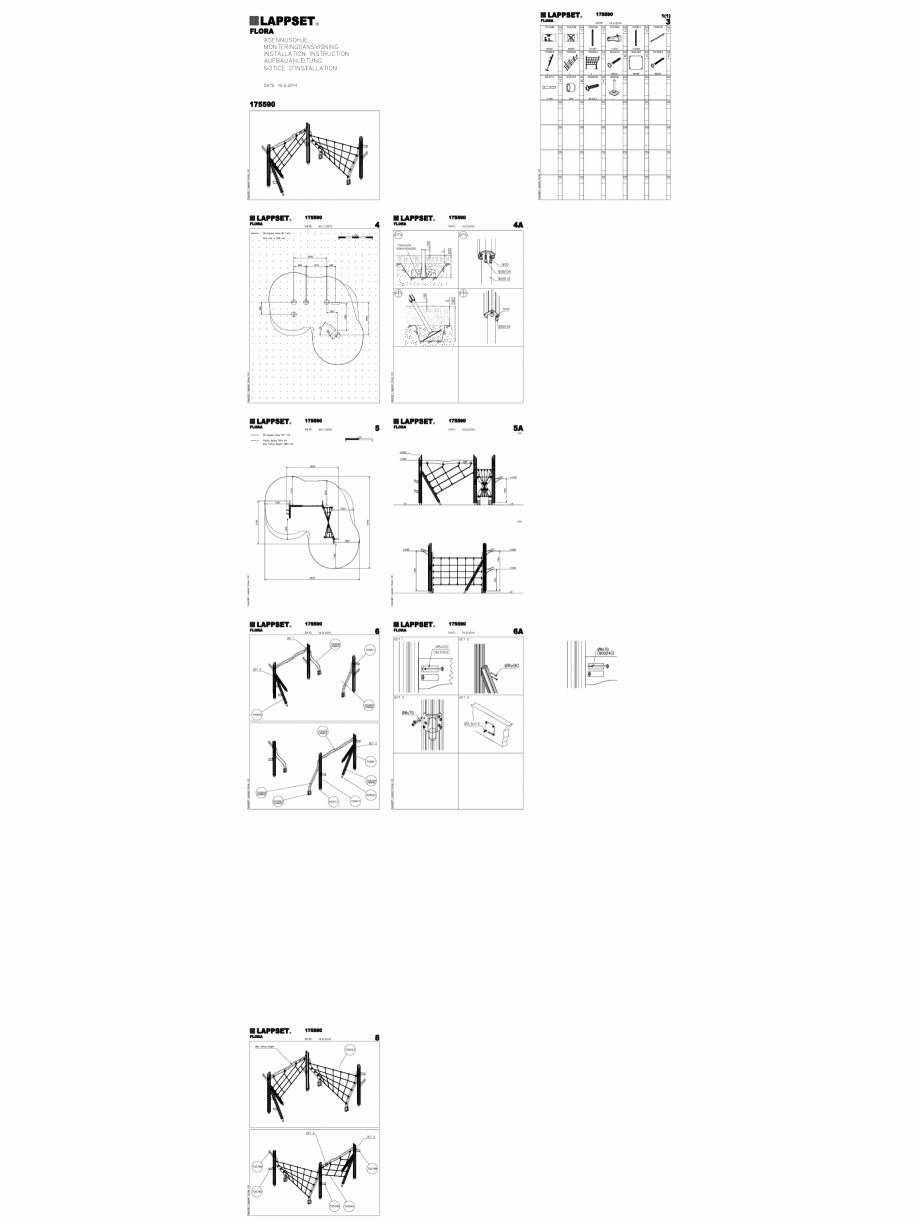 Pagina 1 - CAD-DWG Echipament de joaca pentru copii - 175590(2) LAPPSET Detaliu de produs FLORA