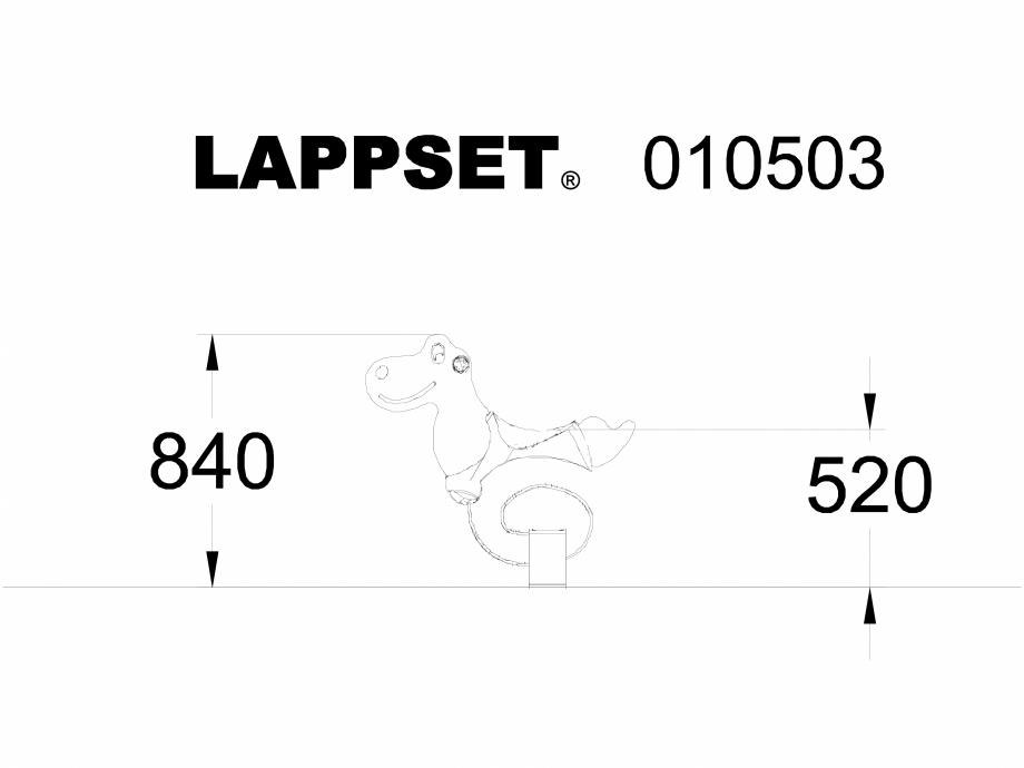 Pagina 1 - CAD-DWG Echipament de joaca pentru copii - 010503 LAPPSET Detaliu de produs NEW FINNO