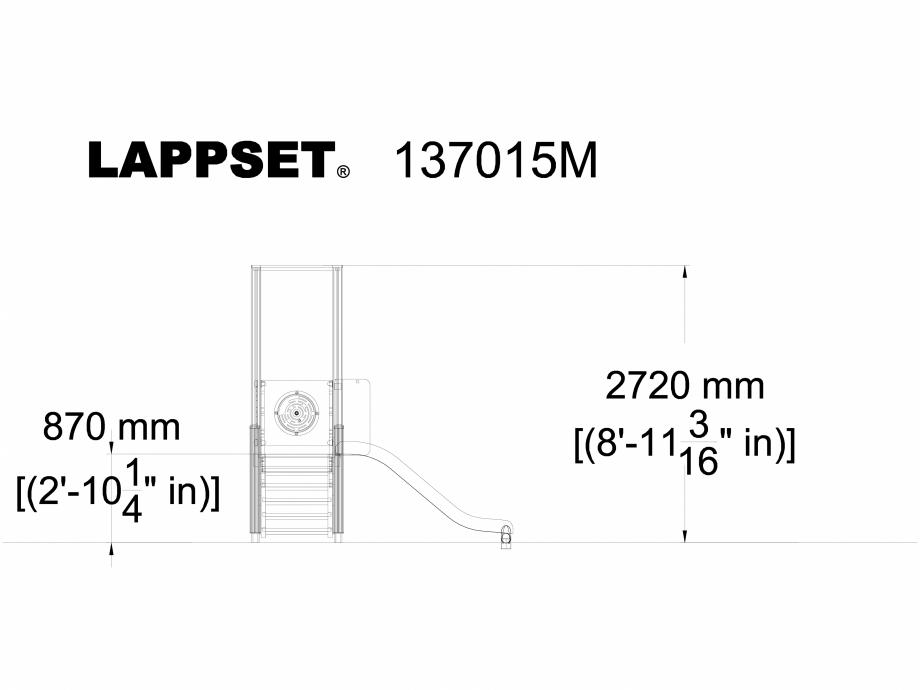 Pagina 1 - CAD-DWG Echipament de joaca pentru copii - 137015 LAPPSET Detaliu de produs NEW FINNO