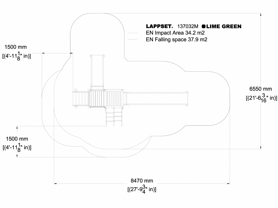 Pagina 1 - CAD-DWG Echipament de joaca pentru copii - 137032 LAPPSET Detaliu de produs NEW FINNO