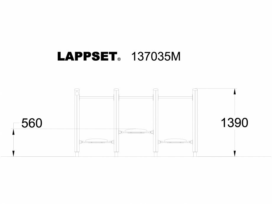 Pagina 1 - CAD-DWG Echipament de joaca pentru copii - 137035 LAPPSET Detaliu de produs NEW FINNO