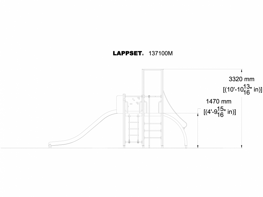 Pagina 1 - CAD-DWG Echipament de joaca pentru copii - 137100 LAPPSET Detaliu de produs NEW FINNO