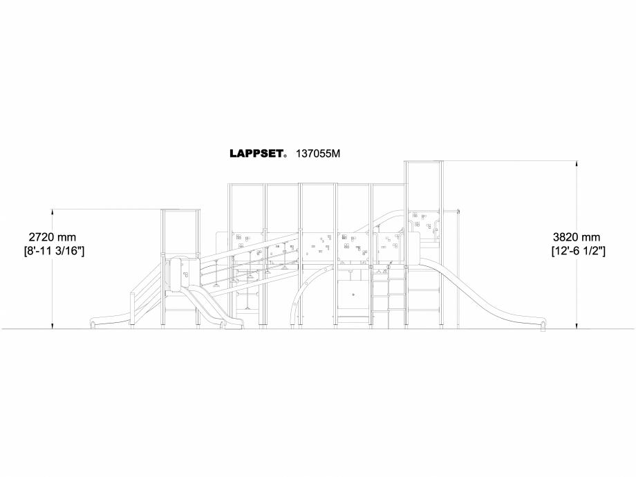 Pagina 1 - CAD-DWG Echipament de joaca pentru copii - 137055 LAPPSET Detaliu de produs NEW FINNO