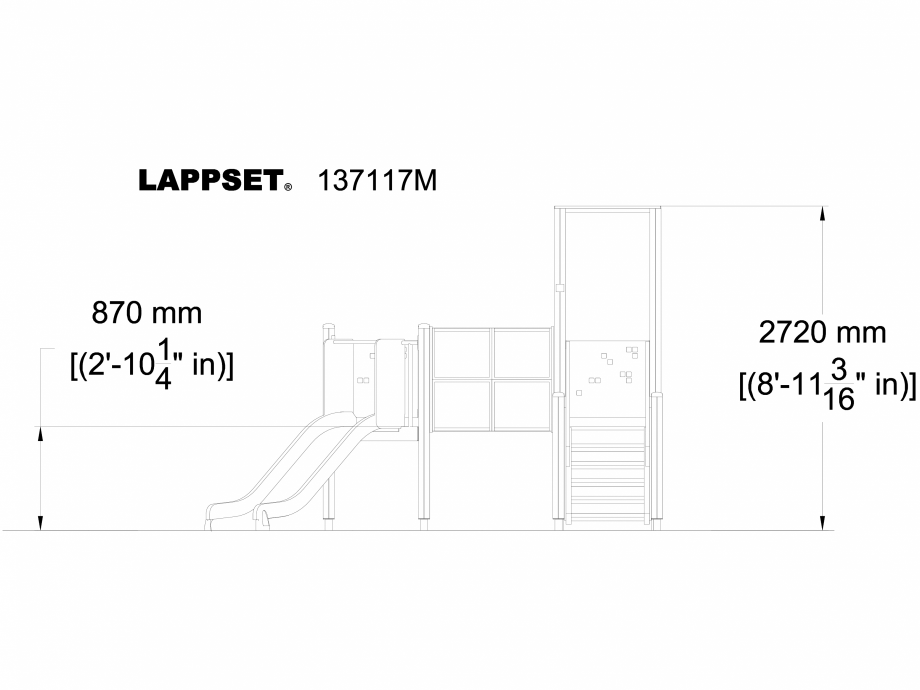 Pagina 1 - CAD-DWG Echipament de joaca pentru copii - 137117 LAPPSET Detaliu de produs NEW FINNO