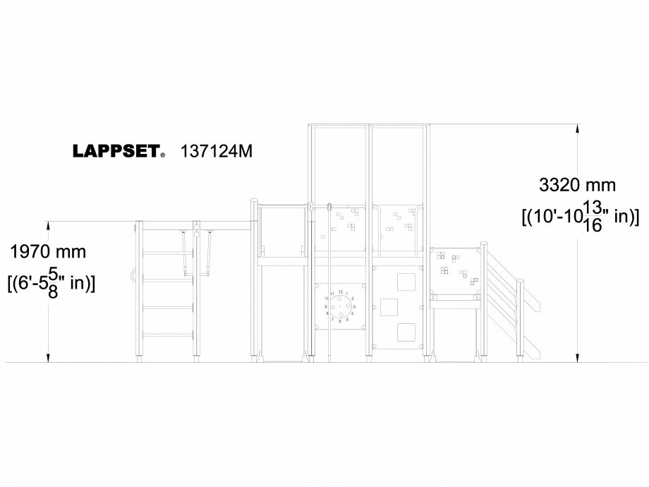 Pagina 1 - CAD-DWG Echipament de joaca pentru copii - 137124 LAPPSET Detaliu de produs NEW FINNO