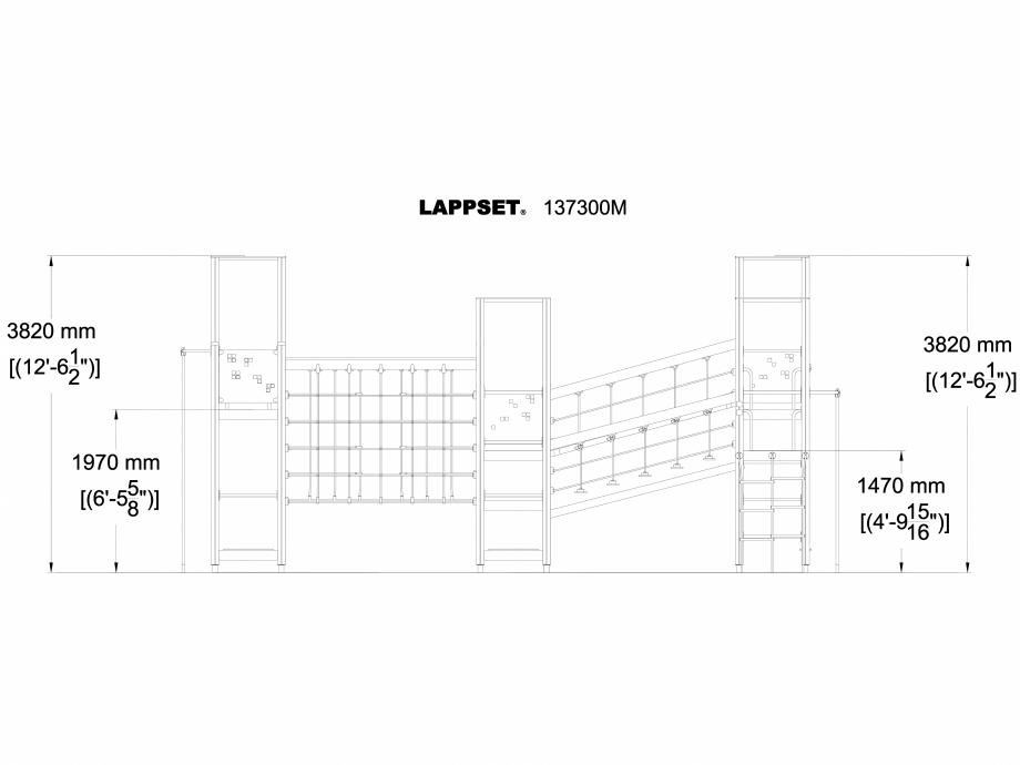 Pagina 1 - CAD-DWG Echipament de joaca pentru copii - 137300 LAPPSET Detaliu de produs NEW FINNO