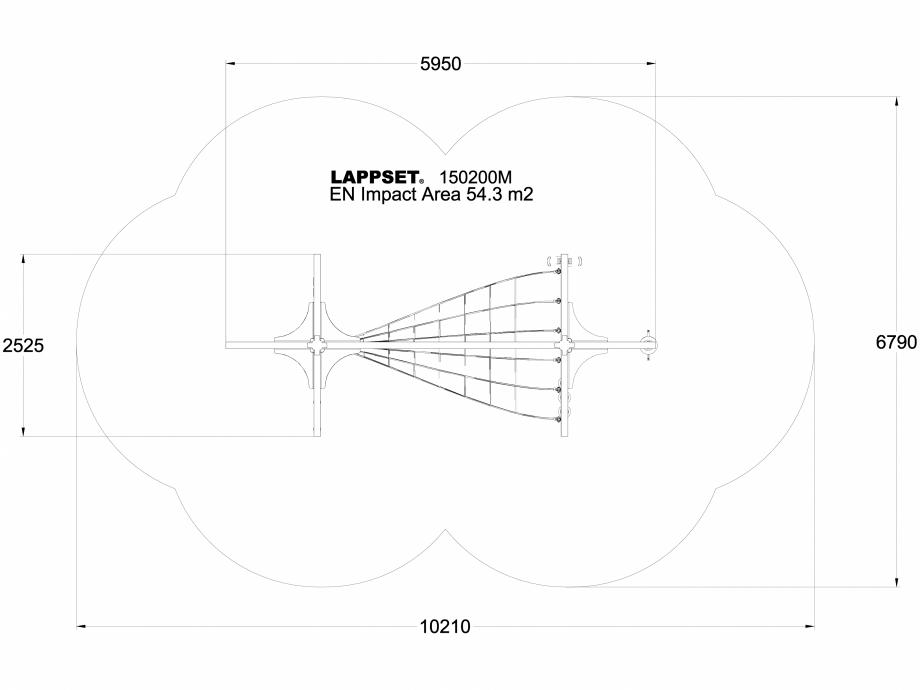Pagina 1 - CAD-DWG Echipament de joaca pentru copii - 150200 LAPPSET Detaliu de produs NEW FINNO