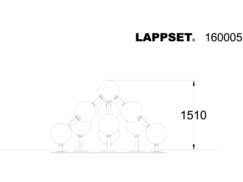 Pagina 1 - CAD-DWG Echipament de joaca pentru copii - 160005 LAPPSET Detaliu de produs NEW FINNO