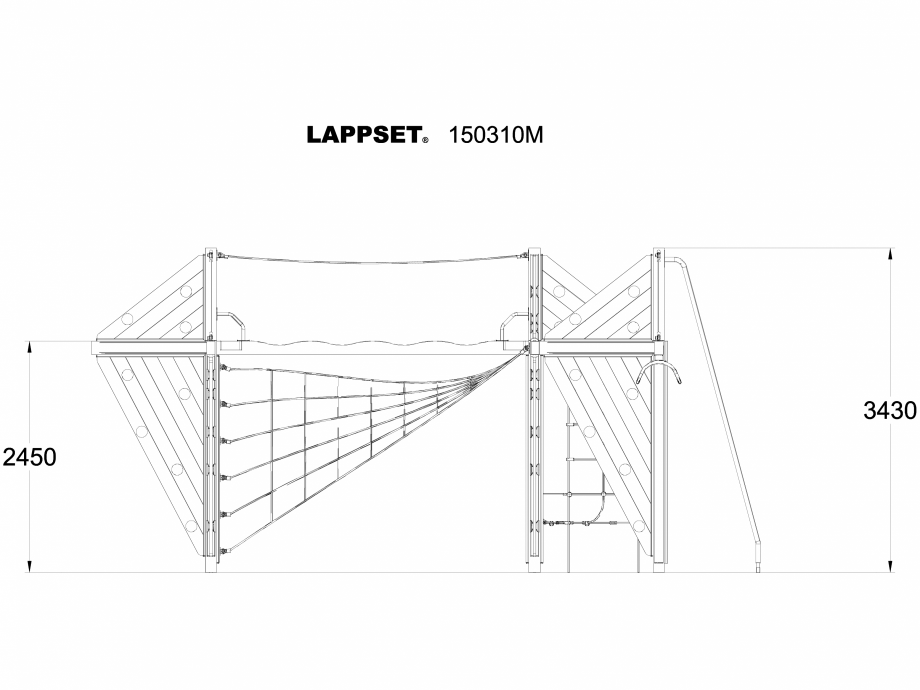 Pagina 1 - CAD-DWG Echipament de joaca pentru copii - 150310 LAPPSET Detaliu de produs NEW FINNO