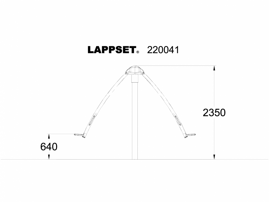 Pagina 1 - CAD-DWG Echipament de joaca pentru copii - 220041 LAPPSET Detaliu de produs NEW FINNO