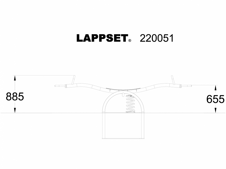 Pagina 1 - CAD-DWG Echipament de joaca pentru copii - 220051 LAPPSET Detaliu de produs NEW FINNO