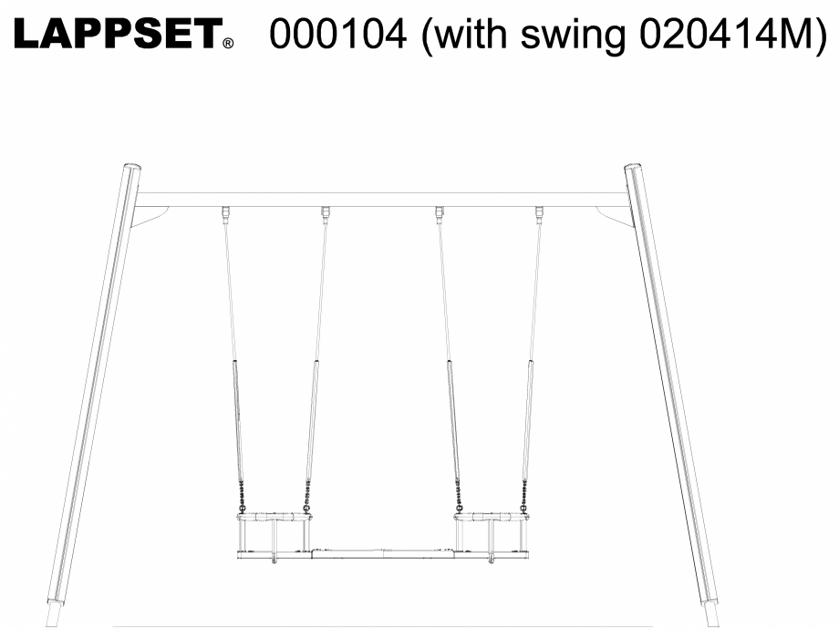 Pagina 1 - CAD-DWG Echipament de joaca pentru copii - 000104(1) LAPPSET Detaliu de produs CLOXX