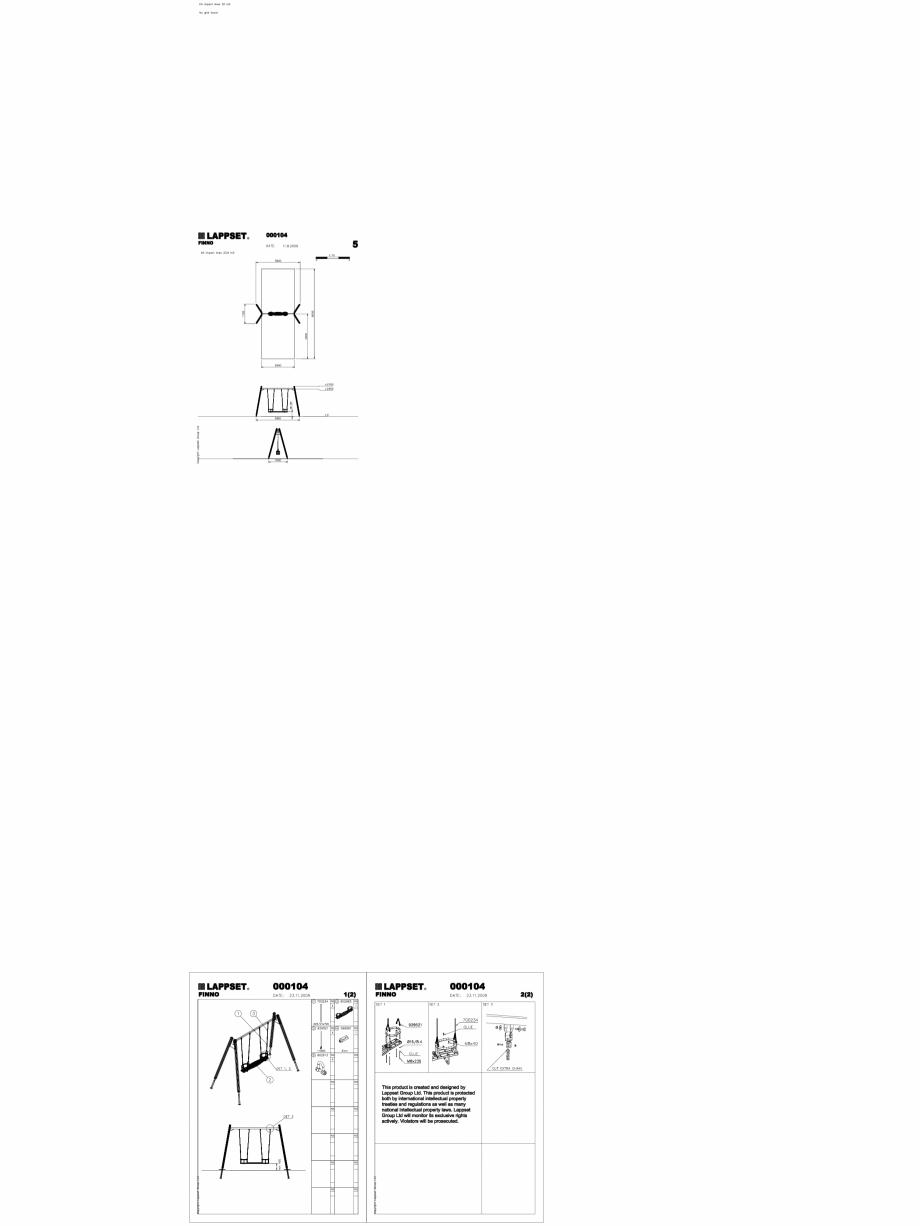 Pagina 1 - CAD-DWG Echipament de joaca pentru copii - 000104 LAPPSET Detaliu de produs CLOXX