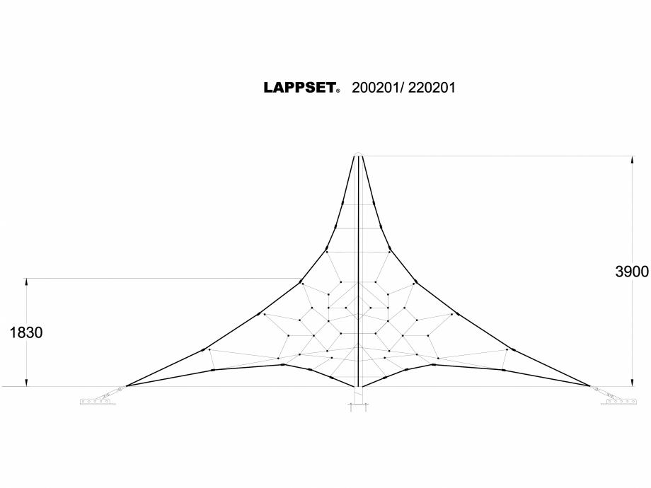 Pagina 1 - CAD-DWG Echipament de joaca pentru copii - 200201 LAPPSET Detaliu de produs CLOXX