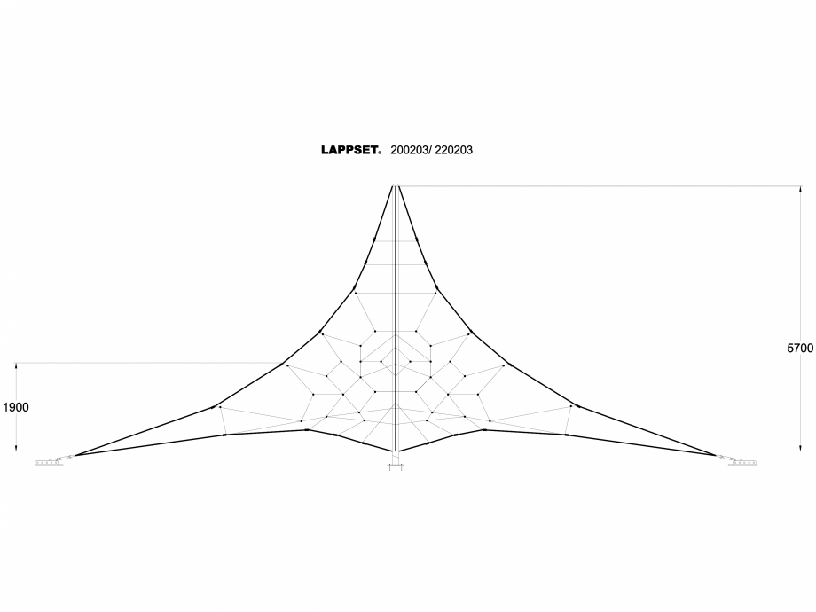 Pagina 1 - CAD-DWG Echipament de joaca pentru copii - 200203 LAPPSET Detaliu de produs CLOXX