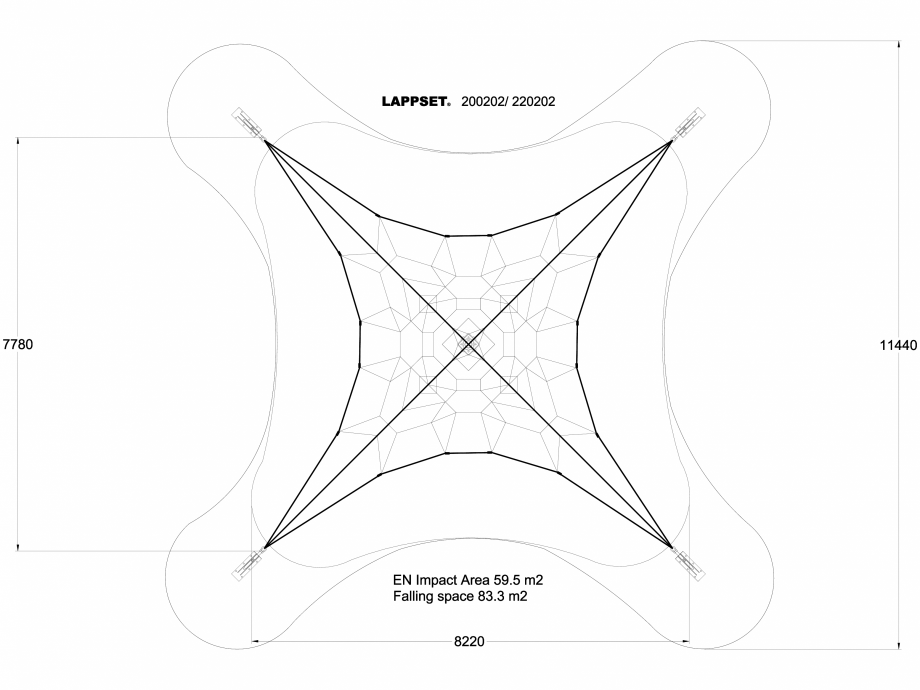 Pagina 1 - CAD-DWG Echipament de joaca pentru copii - 200202(1) LAPPSET Detaliu de produs CLOXX