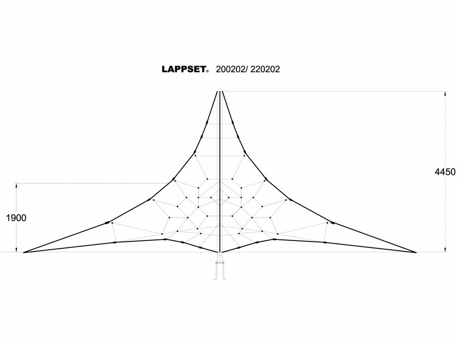 Pagina 1 - CAD-DWG Echipament de joaca pentru copii - 200202 LAPPSET Detaliu de produs CLOXX