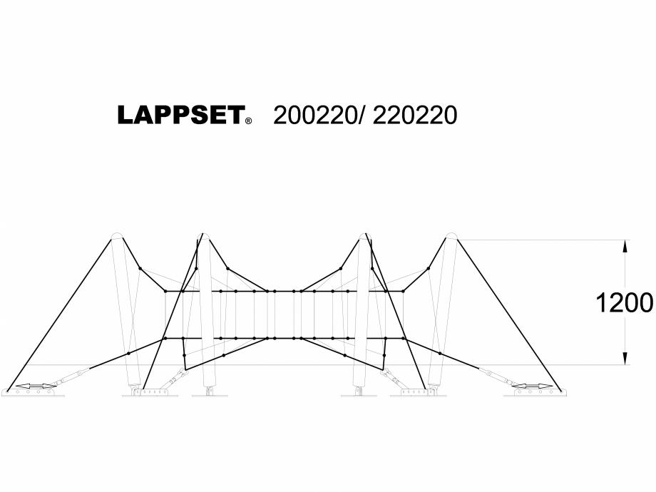 Pagina 1 - CAD-DWG Echipament de joaca pentru copii - 200220 LAPPSET Detaliu de produs CLOXX