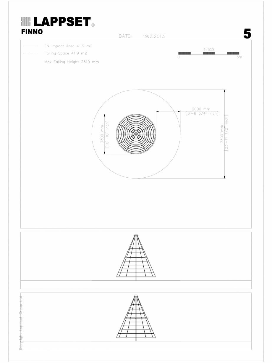 Pagina 1 - CAD-DWG Echipament de joaca pentru copii - 200230(2) LAPPSET Detaliu de produs CLOXX