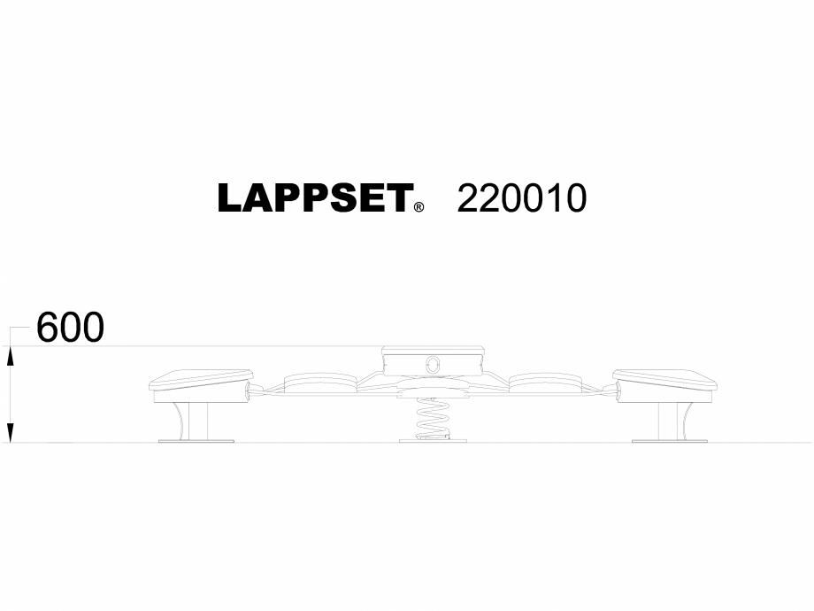 Pagina 1 - CAD-DWG Echipament de joaca pentru copii - 220010(1) LAPPSET Detaliu de produs CLOXX