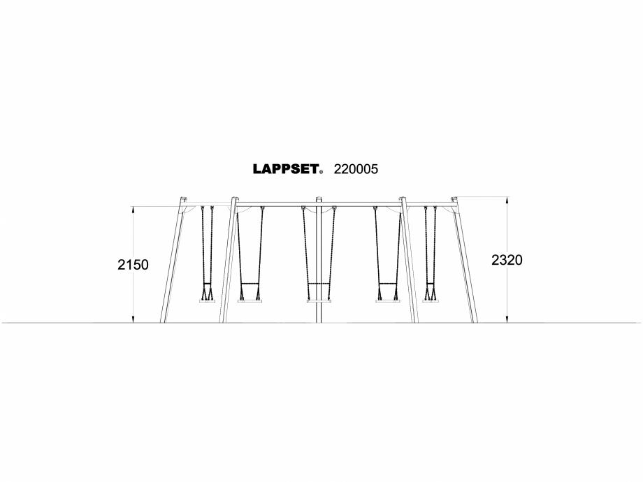 Pagina 1 - CAD-DWG Echipament de joaca pentru copii - 220005(1) LAPPSET Detaliu de produs CLOXX