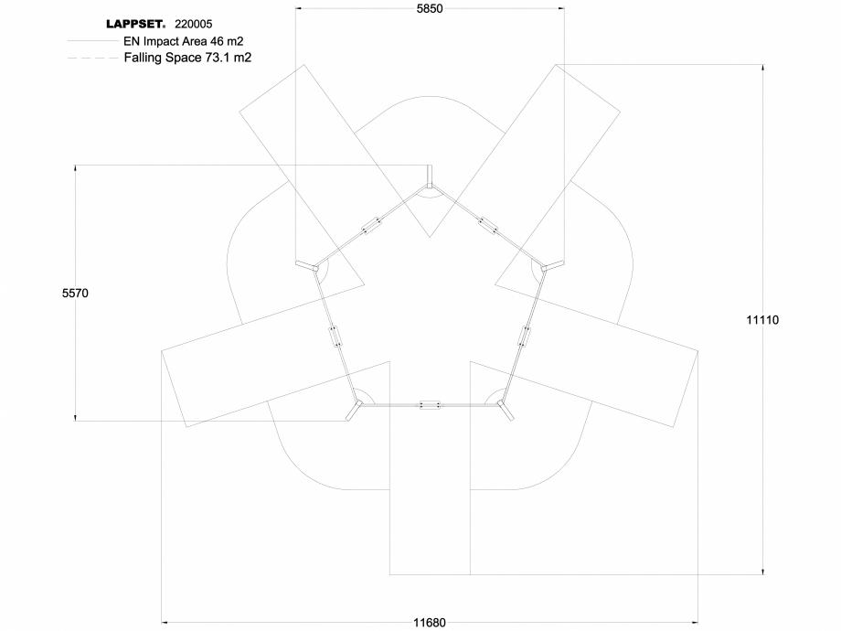 Pagina 1 - CAD-DWG Echipament de joaca pentru copii - 220005 LAPPSET Detaliu de produs CLOXX