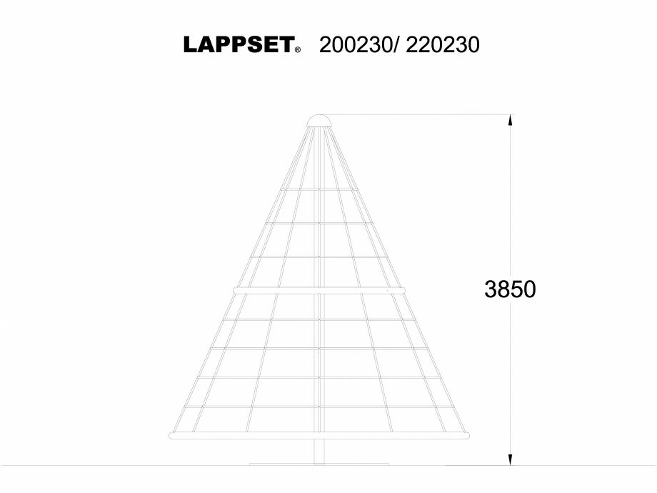 Pagina 1 - CAD-DWG Echipament de joaca pentru copii - 200230 LAPPSET Detaliu de produs CLOXX