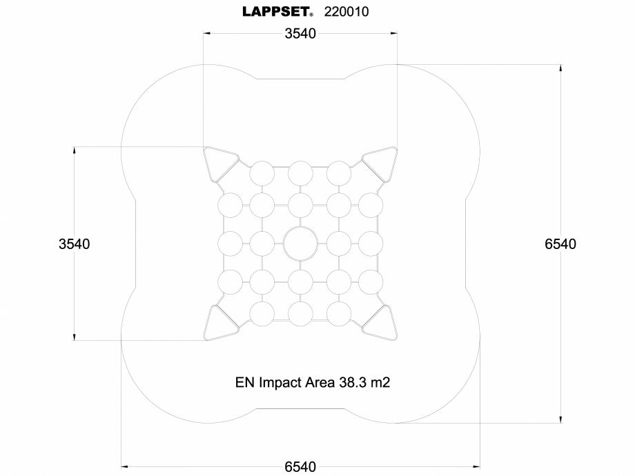 Pagina 1 - CAD-DWG Echipament de joaca pentru copii - 220010 LAPPSET Detaliu de produs CLOXX