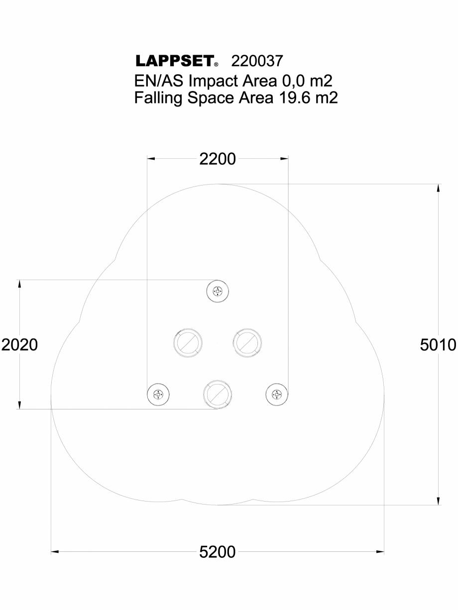 Pagina 1 - CAD-DWG Echipament de joaca pentru copii - 220037PL LAPPSET Detaliu de produs CLOXX