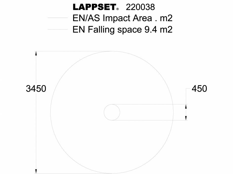 Pagina 1 - CAD-DWG Echipament de joaca pentru copii - 220038(2) LAPPSET Detaliu de produs CLOXX