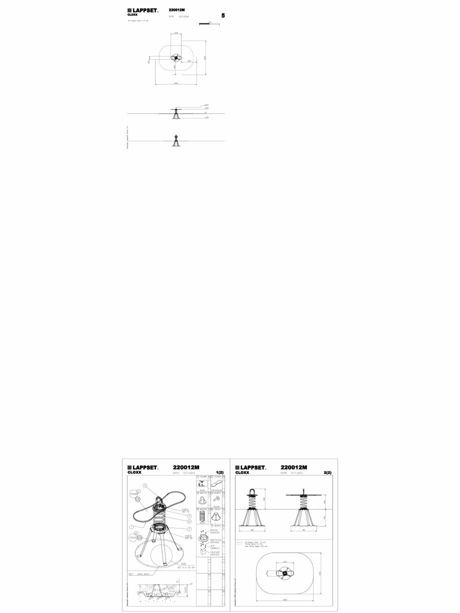 Pagina 1 - CAD-DWG Echipament de joaca pentru copii - 220012M(2) LAPPSET Detaliu de produs CLOXX