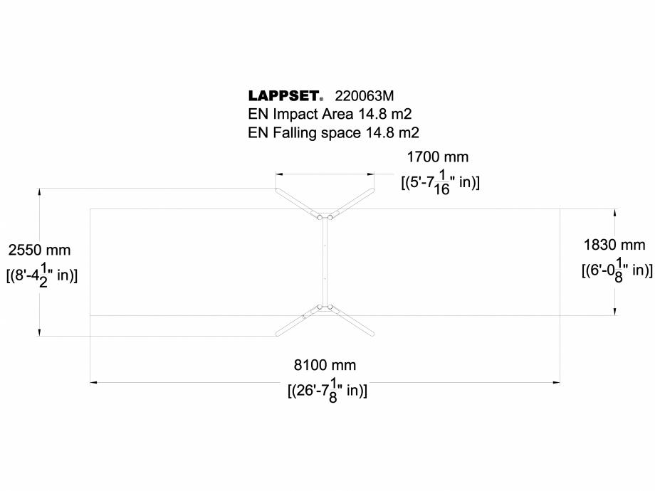 Pagina 1 - CAD-DWG Echipament de joaca pentru copii - 220063M(1) LAPPSET Detaliu de produs CLOXX