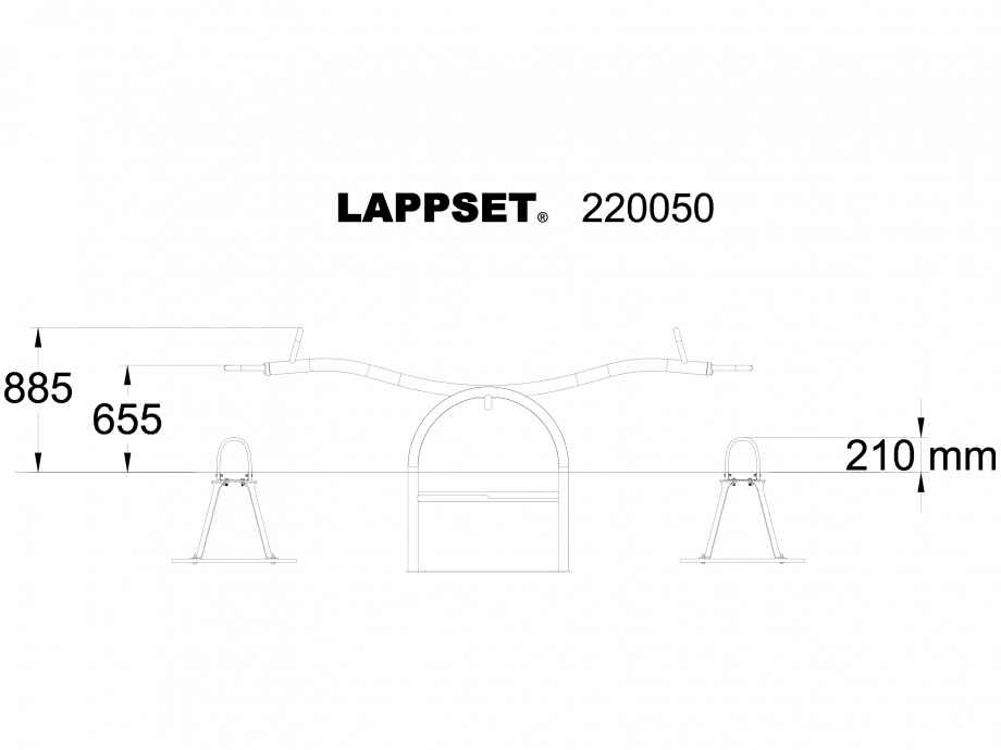 Pagina 1 - CAD-DWG Echipament de joaca pentru copii - 220050SI LAPPSET Detaliu de produs CLOXX