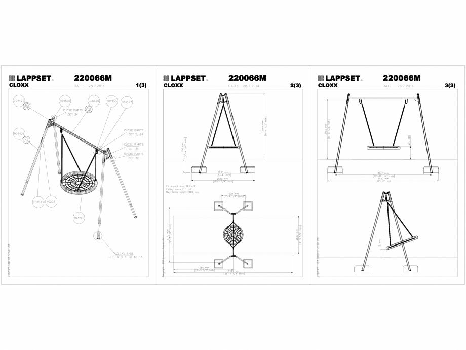 Pagina 1 - CAD-DWG Echipament de joaca pentru copii - 220066M(2) LAPPSET Detaliu de produs CLOXX