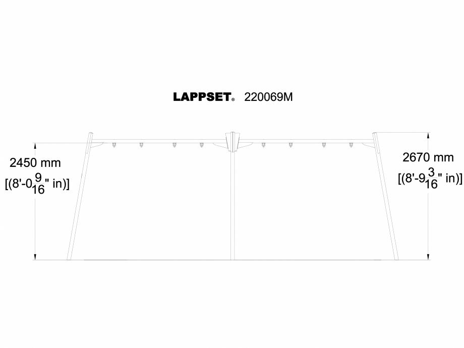 Pagina 1 - CAD-DWG Echipament de joaca pentru copii - 220069M LAPPSET Detaliu de produs CLOXX