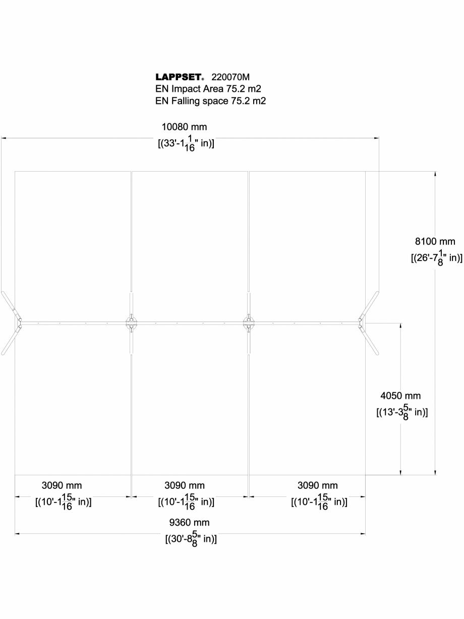 Pagina 1 - CAD-DWG Echipament de joaca pentru copii - 220070M(1) LAPPSET Detaliu de produs CLOXX
