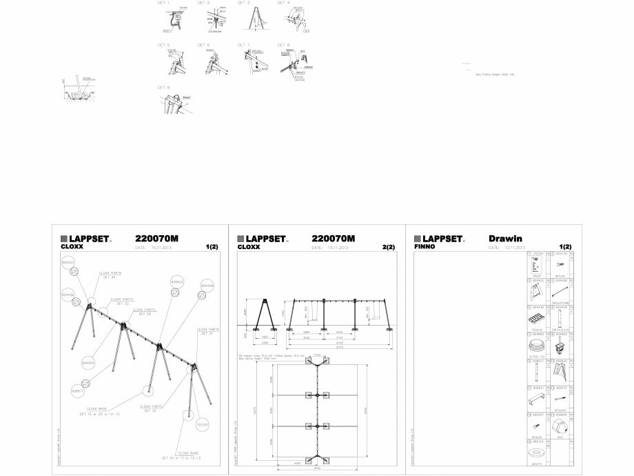 Pagina 1 - CAD-DWG Echipament de joaca pentru copii - 220070M(2) LAPPSET Detaliu de produs CLOXX