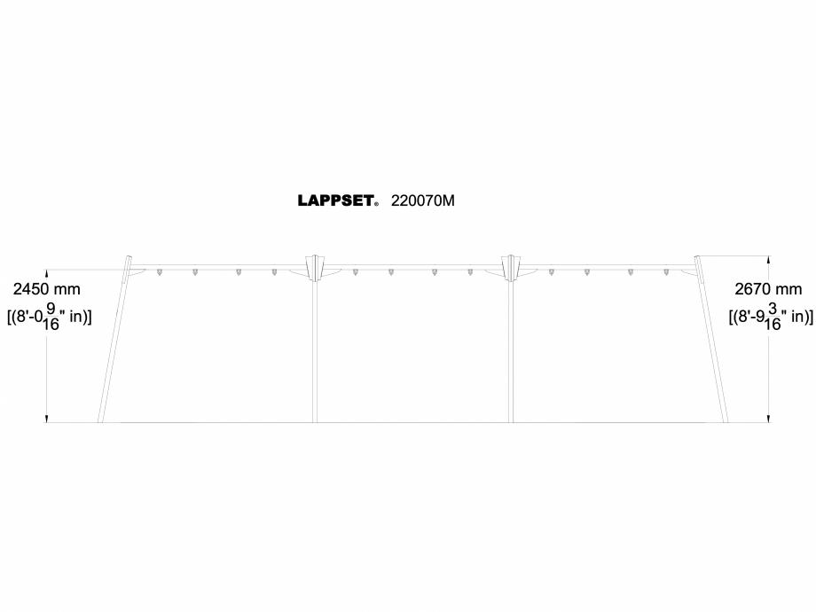 Pagina 1 - CAD-DWG Echipament de joaca pentru copii - 220070M LAPPSET Detaliu de produs CLOXX