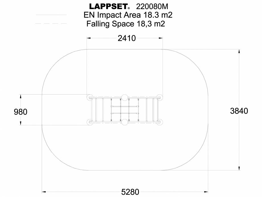 Pagina 1 - CAD-DWG Echipament de joaca pentru copii - 220080M(1) LAPPSET Detaliu de produs CLOXX