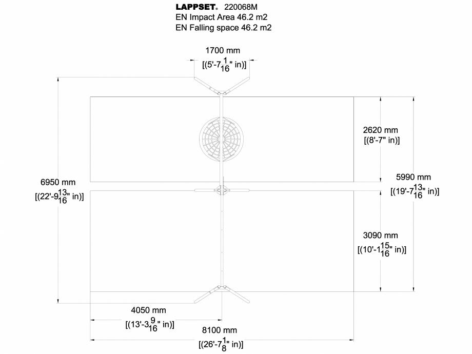 Pagina 1 - CAD-DWG Echipament de joaca pentru copii - 220068M(1) LAPPSET Detaliu de produs CLOXX