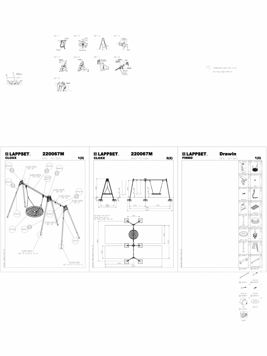 Pagina 1 - CAD-DWG Echipament de joaca pentru copii - 220067M(2) LAPPSET Detaliu de produs CLOXX