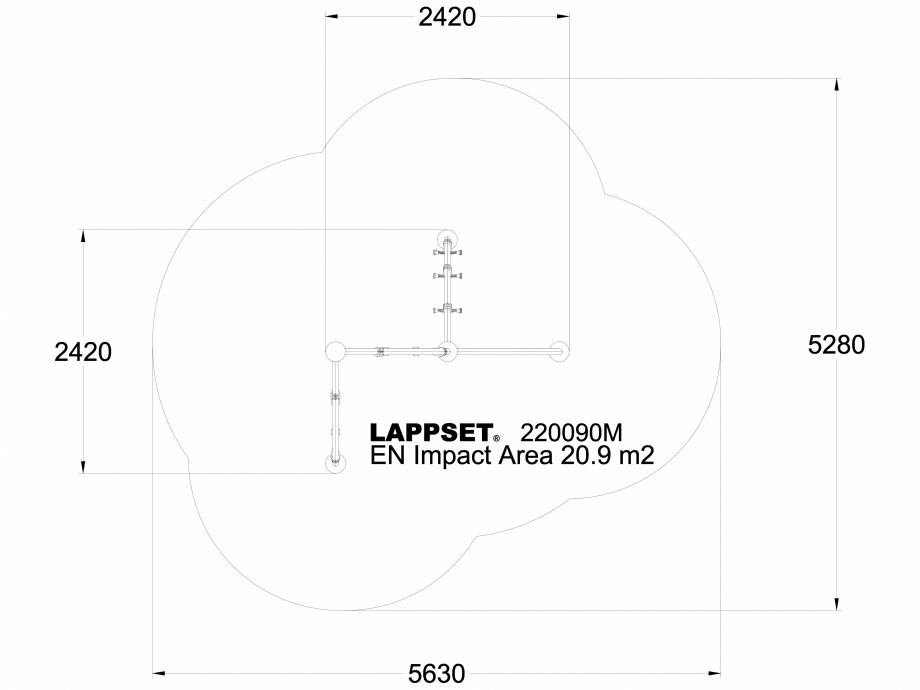 Pagina 1 - CAD-DWG Echipament de joaca pentru copii - 220090M(1) LAPPSET Detaliu de produs CLOXX