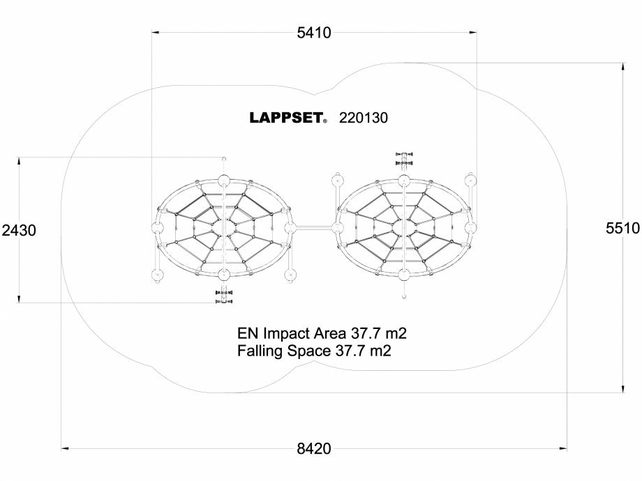 Pagina 1 - CAD-DWG Echipament de joaca pentru copii - 220130(1) LAPPSET Detaliu de produs CLOXX