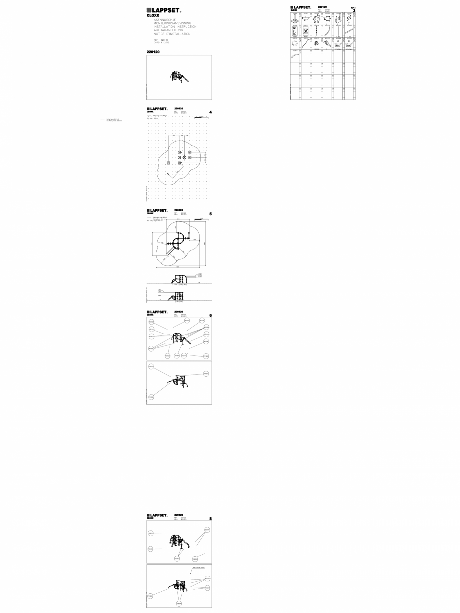 Pagina 1 - CAD-DWG Echipament de joaca pentru copii - 220120(2) LAPPSET Detaliu de produs CLOXX